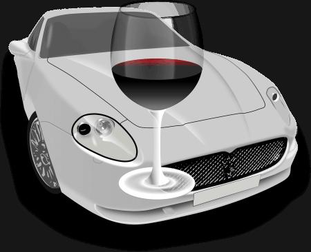 רכב וכוס יין