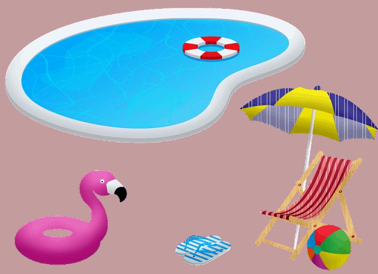 ציוד לבריכה ובריכה